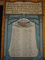 Record of the war service of Eunice Thomas, on the Roll of Honour of Mynydd Bach chapel, Swansea